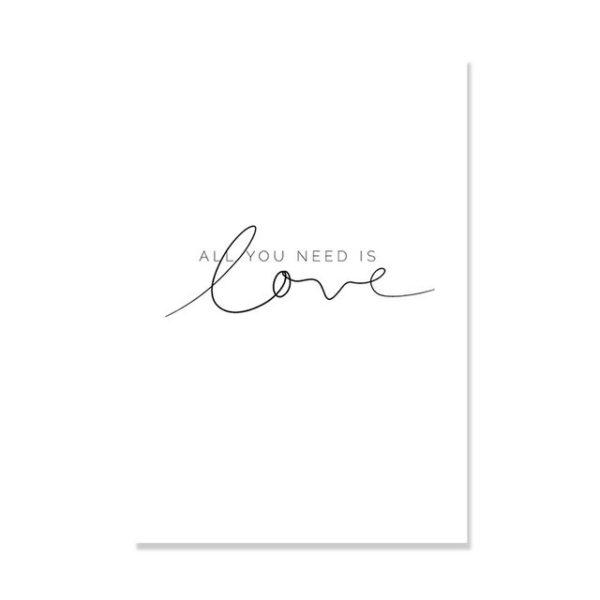 Plakat na ścianę All You need is love