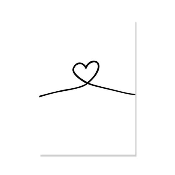 Plakat na ścianę simple heart