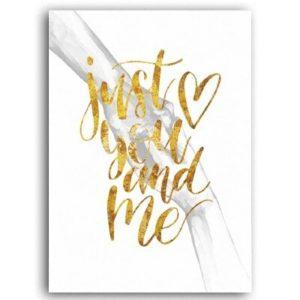 Plakat na ścianę Just you and me