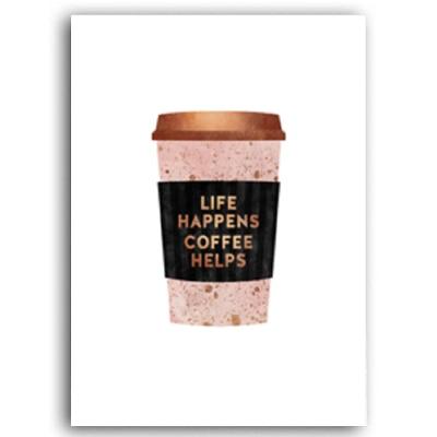 Plakat na ścianę Coffee Helps