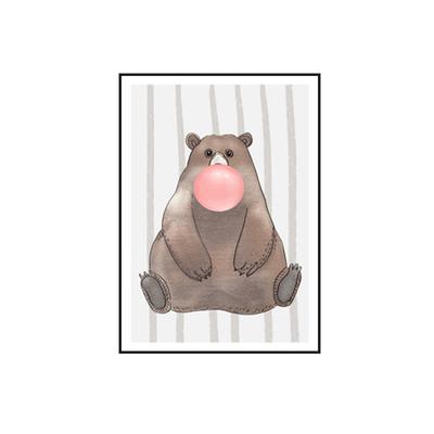 Plakat na ścianę Bear with chewing gum