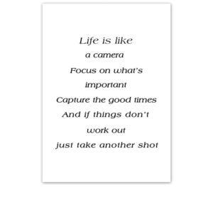 Plakat na ścianę life is like a camera