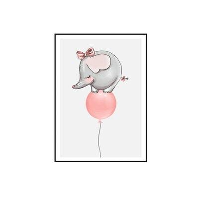 Plakat na ścianę Elephant on the balloon