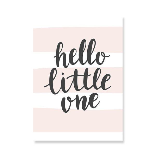 Plakat na ścianę Hello Little One