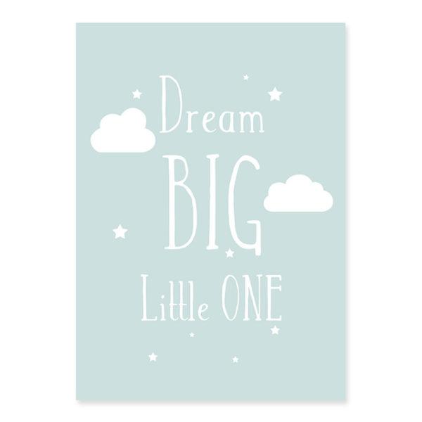 Plakat na ścianę Dream Big mint