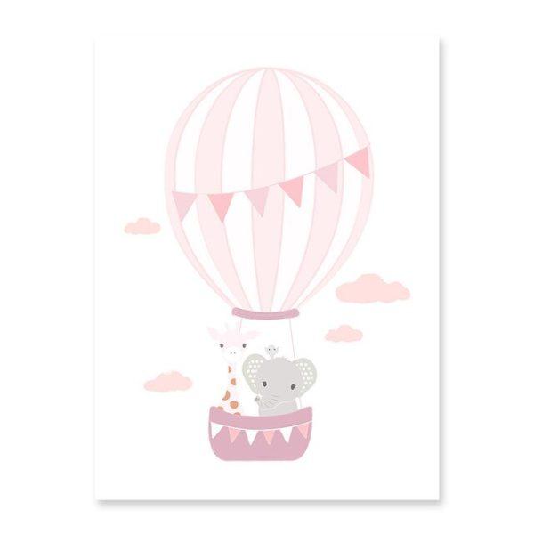 Plakat na ścianę Little Baloon rose