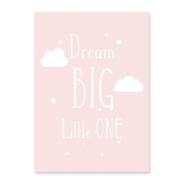 Plakat na ścianę Dream Big rose