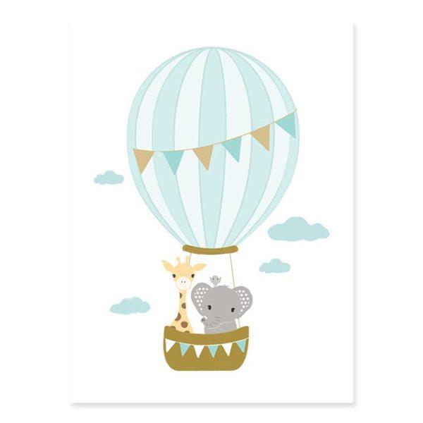 Plakat na ścianę Little Baloon mint
