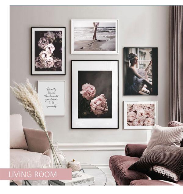 Plakat na ścianę luxury peony