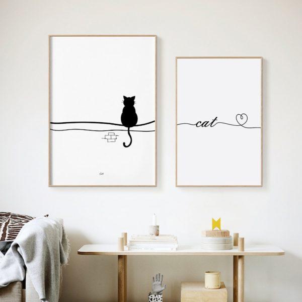 Plakat z napisem Cat