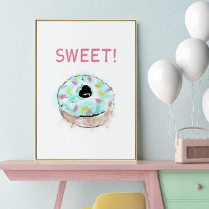Plakat na ścianę Sweet