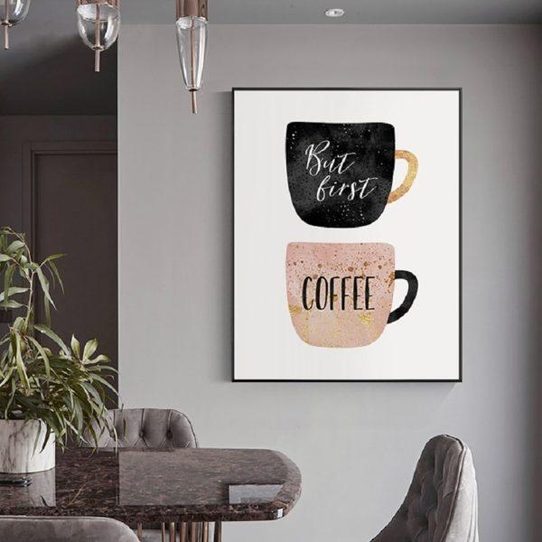 Plakat na ścianę First Coffe
