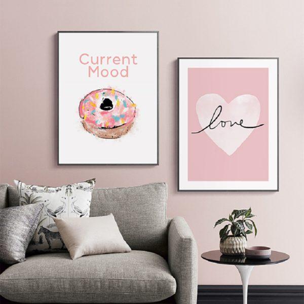 Plakat na ścianę Pink Love