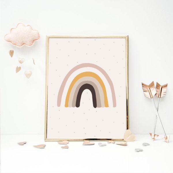 Plakat na ścianę Vintage Rainbow