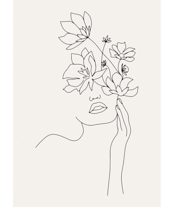 Plakat na ścianę Abstract Floral Girl
