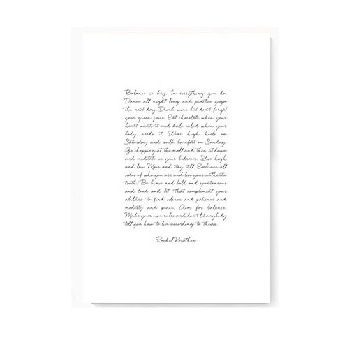 Plakat na ścianę Letter