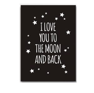 Plakat na ścianę to the moon and back