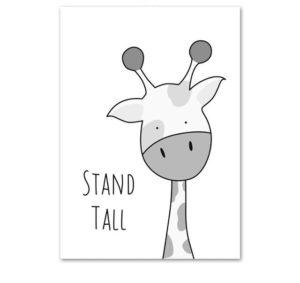 Plakat dla dzieci Stand Tall monochromatyczny