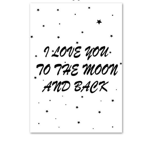 Plakat dla dzieci Love u to the moon