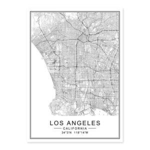 Plakat na ścianę Mapa Los Angeles