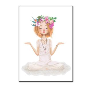 Plakat na ścianę Yoga Girl