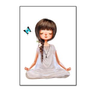Plakat na ścianę Yoga Girl & Butterfly