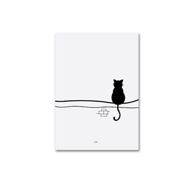 Plakat na ścianę Black Cat