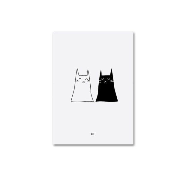 Plakat na ścianę Black&White Cats