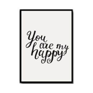 Plakat na ścianę You are my happy