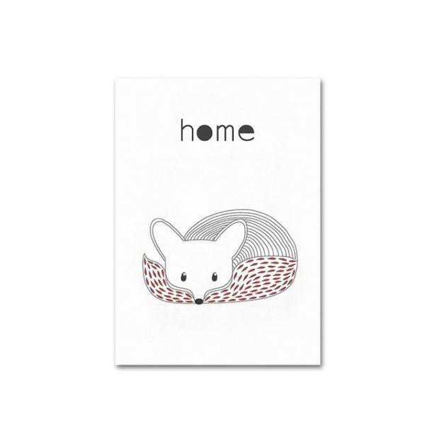 Plakat dla dziecka Scandinavian Fox