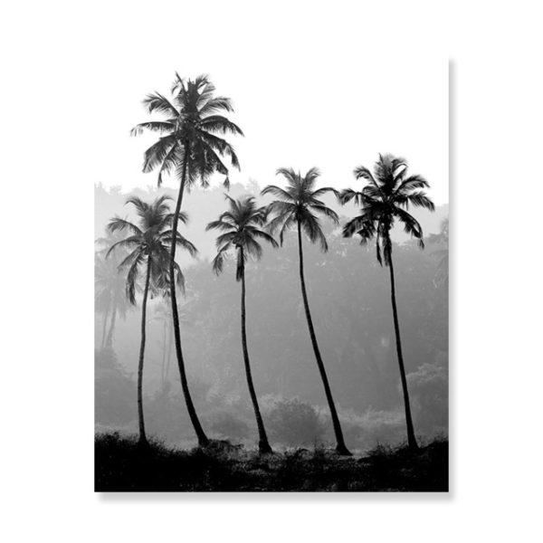 Plakat na ścianę gray palm trees