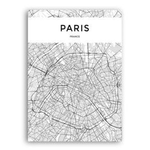 Plakat na ścianę Mapa Paryż