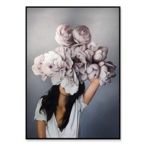 Plakat na ścianę floral girl 1