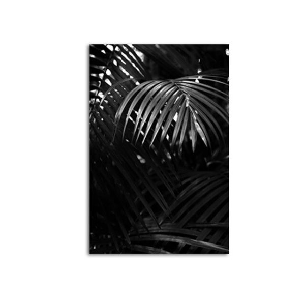 Plakat na ścianę Grey Palm Leaf