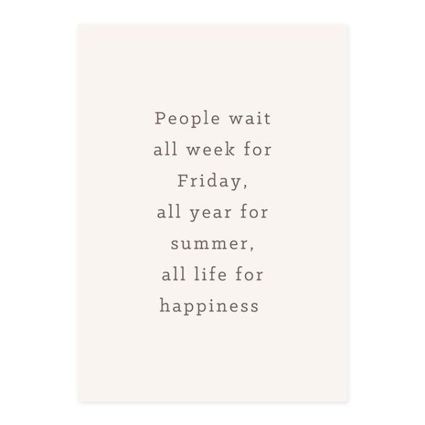 Plakat z napisem People Wait