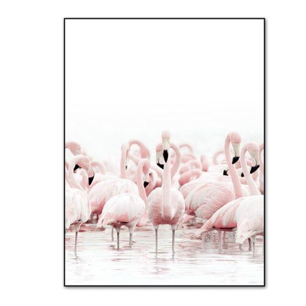 Plakat na ścianę Flamingos