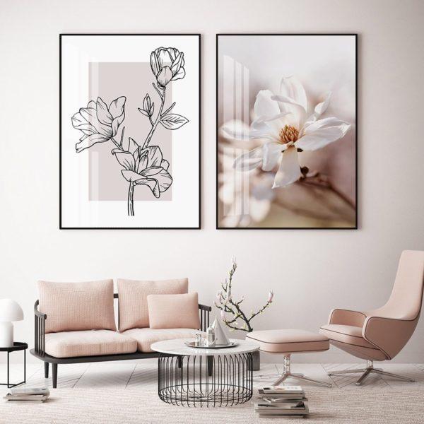 Plakat na ścianę Magnolia Drawing