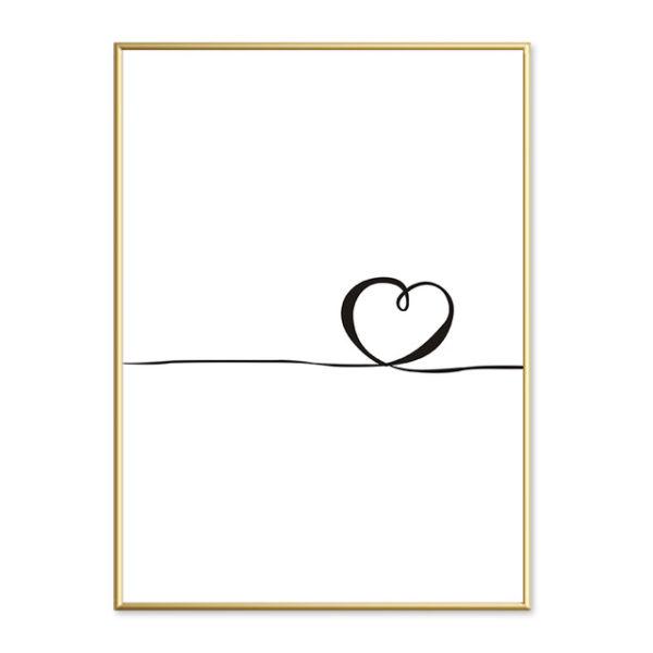 Plakat na ścianę simple heart 2