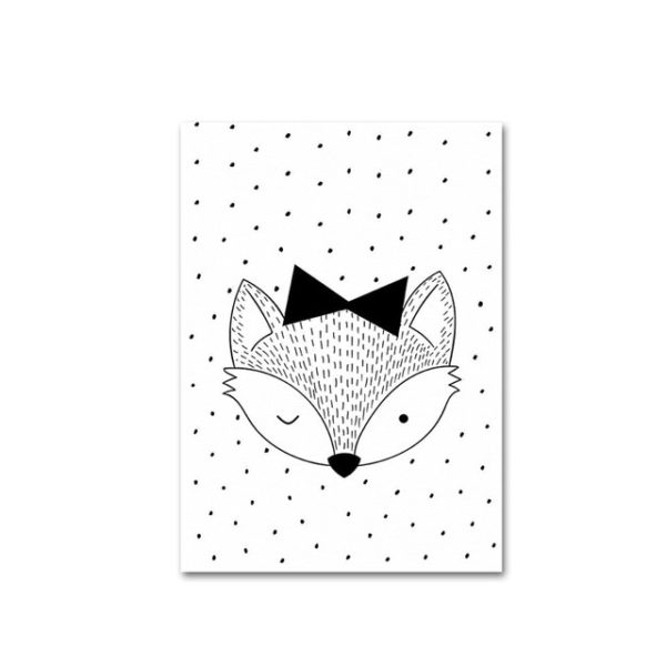 Plakat dla dziecka Scandinavian Funny Fox
