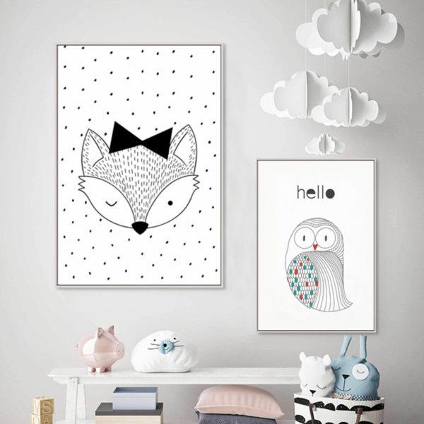 Plakat dla dziecka Scandinavian Owl