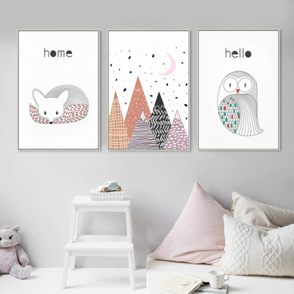 Plakat dla dziecka Scandinavian Mountain