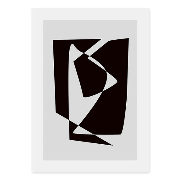 Plakat black and white abstract