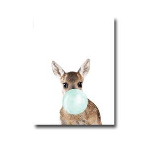 Plakat Deer with chewing gum