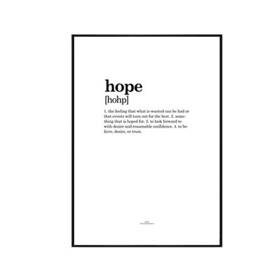 Plakat na ścianę Hope