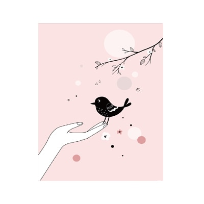 Plakat dla dzieci Be Free Bird