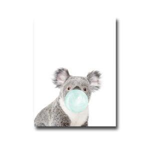 Plakat Koala with chewing gum