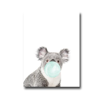 Plakat Koala with chewing gum