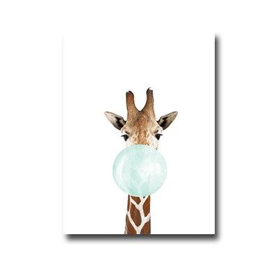 Plakat Giraffe with chewing gum