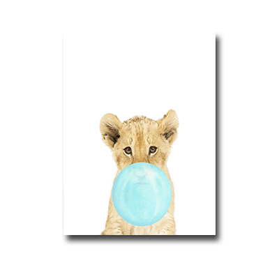Plakat Lion with chewing gum