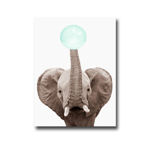 Plakat Elephant with chewing gum
